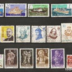 Stamps - RUMANIA. 1961. LOTE 17 USADOS - 72361327