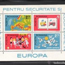 Sellos: RUMANIA 1975 HB IVERT 121 *** CONFERENCIA PARA LA SEGURIDAD Y COOPERACIÓN EN EUROPA. Lote 80270397