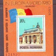 Sellos: RUMANIA 1980 HB IVERT 146 *** CONFERENCIA SOBRE SEGURIDAD Y COOPERACIÓN EUROPEA EN MADRID. Lote 80721566