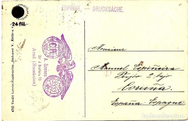 Sellos: RUMANÍA 1926 - TARJETA POSTAL CIRCULADA A LA CORUÑA (ESPAÑA) - Foto 2 - 82213948