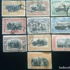 Sellos: RUMANÍA , YVERT Nº 172 - 181 SERIE COMPLETA , 1906. Lote 89189300