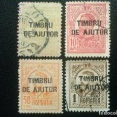 Timbres: RUMANÍA , YVERT Nº 232 - 235 , SERIE COMPLETA , 1915-16. Lote 89200008