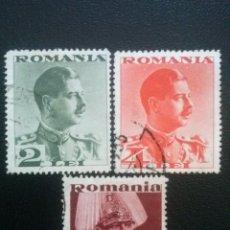 Francobolli: RUMANÍA , YVERT Nº 472 , 473 + 474, 1934. Lote 89244976