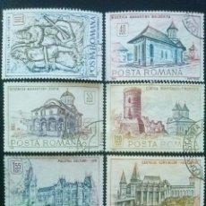 Francobolli: RUMANÍA , YVERT Nº 2416 - 2421 SERIE COMPLETA 1968 . Lote 89284712