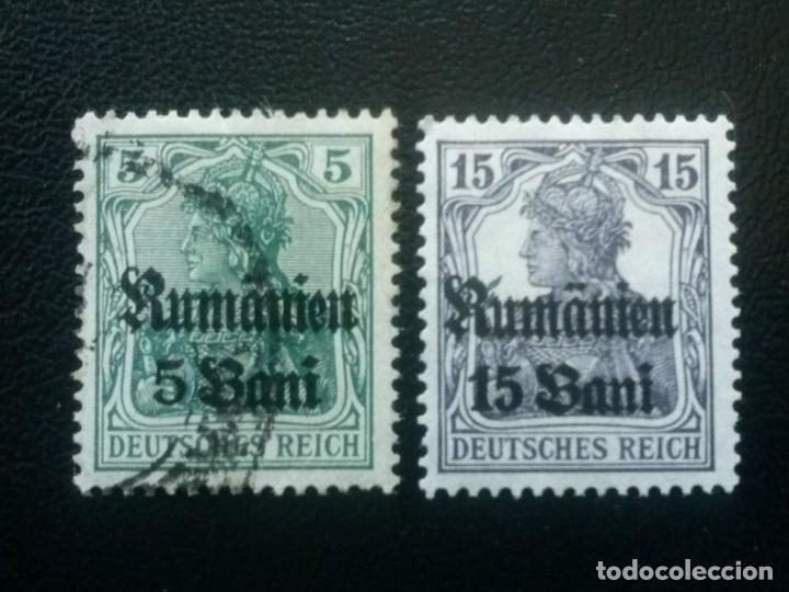 RUMANÍA , OCUPACIÓN ALEMANA, YVERT Nº 26 + 28 , 1918 (Sellos - Extranjero - Europa - Rumanía)