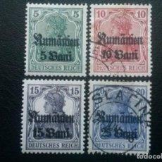 Francobolli: RUMANÍA , OCUPACIÓN ALEMANA, YVERT Nº 26 - 29 , 1917. Lote 89655480