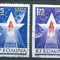 Sellos: RUMANÍA,USADOS,AÉREO,1963,LUNIK IV. Lote 91778047