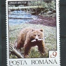 Stamps - Rumanía,1992,fauna rumana,oso,usado - 154496682