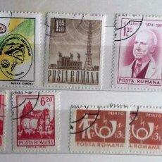 Sellos: RUMANIA , LOTE DE 9 SELLOS USADOS . Lote 95690375