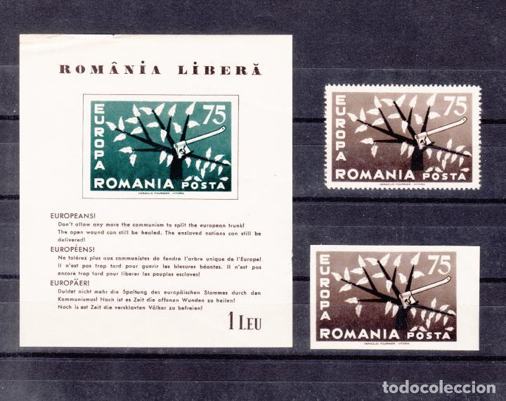 ,,,RUMANIA 1 VALOR DENTADA Y 1 Y HB SIN DENTAR SIN CHARNELA, PIE IMPRENTA HERACLIO FOURNIER VITORIA+ (Sellos - Extranjero - Europa - Rumanía)