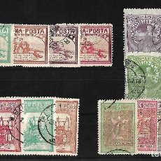 Sellos: RUMANIA 1905-06 BENEFICENCIA SERIE COMPLETA USADOS. Lote 105193775