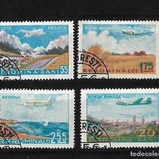 Sellos: RUMANIA 1956 CORREO AEREO SOBREVUELOS SERIE COMPLETA. Lote 105194031