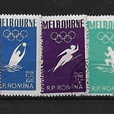 Sellos: RUMANIA 1956 JUEGOS OLIMPICOS DE MELBOURNE SERIE COMPLETA. Lote 105194139