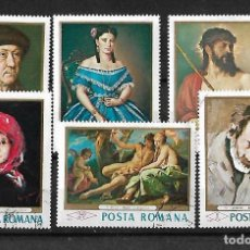 Sellos: RUMANIA 1968 CUADROS SERIE COMPLETA. Lote 105195715