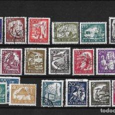 Sellos: RUMANIA 1960 SERIE BASICA SERIE COMPLETA USADOS. Lote 106086075