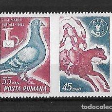Sellos: RUMANIA 1965 DIA DEL SELLO SERIE COMPLETA NUEVOS SIN CHARNELA . Lote 106086143