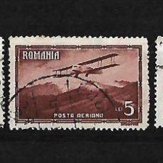 Sellos: RUMANIA 1931 CORREO AEREO. AVIONES Y PAISAJES SERIE INCOMPLETA. Lote 111985319