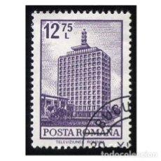 Sellos: RUMANÍA 1972. MICHEL RO 3099, YVERT RO 2791. EDIFICIO DE T.V., BUCAREST. USADO. Lote 112660927