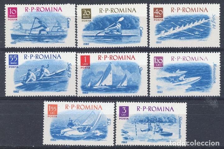 RUMANIA 1962 IVERT 1834/41 *** DEPORTES NAUTICOS (Sellos - Extranjero - Europa - Rumanía)
