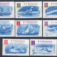 Sellos: RUMANIA 1962 IVERT 1834/41 *** DEPORTES NAUTICOS. Lote 116937863