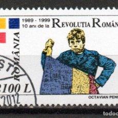 Sellos: ++ ROMANIA / RUMANIA / ROUMANIE AÑO 1999 YVERT NR.4574 USADA REVOLUCIÓN RUMANA. Lote 35219314