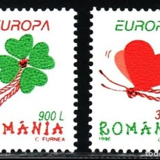 Sellos: SELLOS TEMA EUROPA 1998 RUMANIA 2V.. Lote 117428291