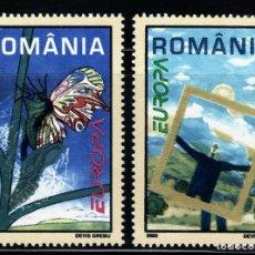 Sellos: TEMA EUROPA 2003 RUMANIA EL CARTEL 2V.. Lote 117430167