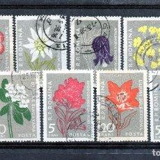 Sellos: ++ RUMANIA / ROMANIA / ROEMENIE AÑO 1957 YVERT NR.1517/24 USAO FLORES FLEURES FLORII. Lote 21416792