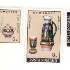 Sellos: RUMANIA, 1992, 3986/3990.ARTESANIA RUMANA.PORCELANA.. Lote 132332242