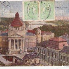 Sellos: POSTAL CIRCULADA DE ARAD RUMANIA A BARCELONA ESPAÑA AÑO 1928. Lote 132350546