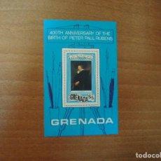 Sellos: ISLA DE GRANADA-GRENADA-HOJA BLOQUE-400 ANIVERSARIO DE RUBENS.. Lote 135488494