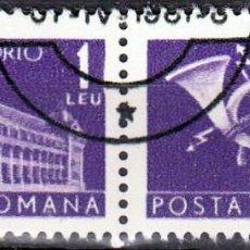 Sellos: 1967 - RUMANIA - CORREOS Y TELECOMUNICACIONES - YVERT T 132 A/B. Lote 138089598