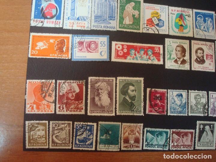 Sellos: Rumanía-lote de 48 Sellos-Solo a 3 Céntimos de Euros cada uno. - Foto 4 - 139558162