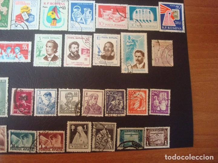 Sellos: Rumanía-lote de 48 Sellos-Solo a 3 Céntimos de Euros cada uno. - Foto 5 - 139558162
