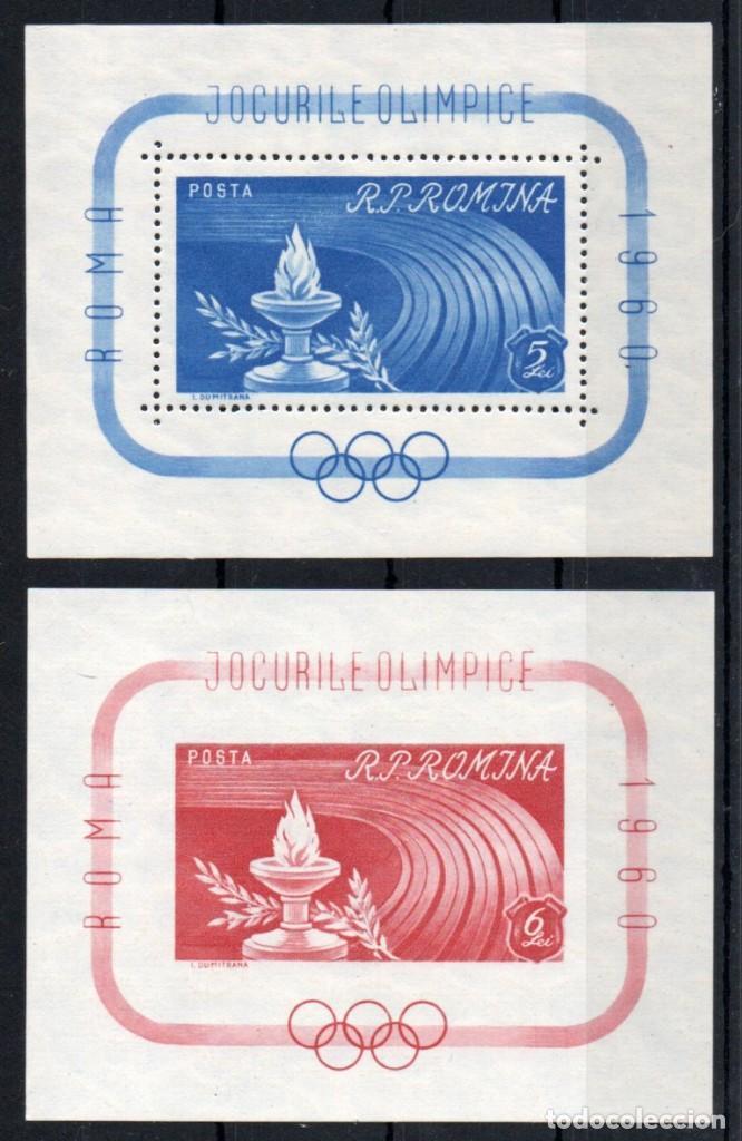RUMANIA AÑO 1960 YV HB 47/48*** JUEGOS OLÍMPICOS DE ROMA - DEPORTES (Sellos - Extranjero - Europa - Rumanía)