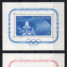 Sellos: RUMANIA AÑO 1960 YV HB 47/48*** JUEGOS OLÍMPICOS DE ROMA - DEPORTES -- MNH --. Lote 142475870