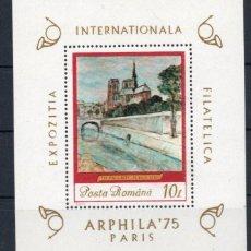 Sellos: RUMANIA AÑO 1975 YV HB 118*** EXPOSICIÓN FILATELICA INTERNACIONAL ARPHILA'75 EN PARÍS PINTURA ARTE. Lote 147214466