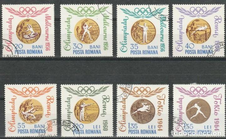 SERIE. RUMANIA 1964. GANADORES MEDALLAS ORO OLIMPICAS. *.MH (GOMA) (Sellos - Extranjero - Europa - Rumanía)