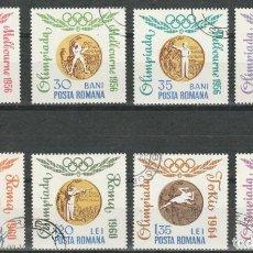 Sellos: SERIE. RUMANIA 1964. GANADORES MEDALLAS ORO OLIMPICAS. *.MH (GOMA). Lote 149996186