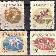 Sellos: RUMANIA - 1 SERIE IVERT 1643-50 (8 VALORES) - NUEVOS DEPORTES OLIMPICOS 1959 - NUEVO MATASELLADO. Lote 151302566