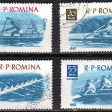 Sellos: RUMANIA - 4 SELLOS IVERT 1834-5-6-7 (4 VALORE) - DEPORTES ACUATICOS 1962 - NUEVO CON GOMA ORIGINAL. Lote 151412154