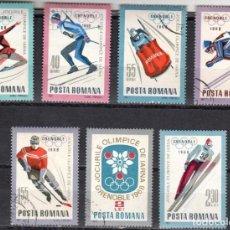 Sellos: RUMANIA - 1 SERIE IVERT 2329-35 (7 VALORES) - OLIMPICOS INVIERNO GRENOBLE 1968 - NUEVO GOMA ORIGINAL. Lote 151417946