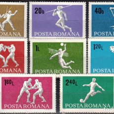 Sellos: RUMANIA - 1 SERIE IVERT 2446-53 (8 VALORES) - DEPORTES 1969 - NUEVO CON GOMA ORIGINAL. Lote 151418842