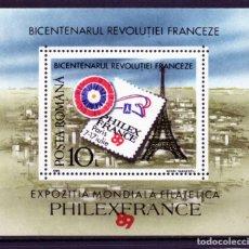 Timbres: ++ HB RUMANIA / ROMANIA / ROEMENIE AÑO 1989 YVERT NR.205 NUEVA PHILEXFRANCE - PARIS. Lote 153142482