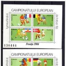 Timbres: ++ HB RUMANIA / ROMANIA / ROEMENIEAÑO 1984 YVERT NR.168/69 NUEVA FUTBOL - FRANCE. Lote 153410618
