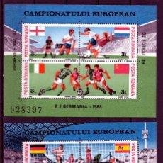 Timbres: ++ HB RUMANIA / ROMANIA / ROEMENIE AÑO 1984 YVERT NR.168/69 NUEVA FUTBOL - ALEMANIA. Lote 153410862