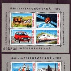 Timbres: ++ HB RUMANIA / ROMANIA / ROEMENIE AÑO 1988 YVERT NR.193A/B NUEVA COLABORACIÓN INTEREUROPEA. Lote 153411110