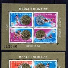 Timbres: ++ HB RUMANIA / ROMANIA / ROEMENIE AÑO 1988 YVERT NR.199/200 NUEVA MEDALLAS OLIMPICAS BARCELONA. Lote 153411550