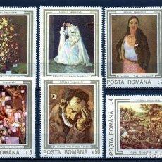 Timbres: ++ RUMANIA / ROMANIA / ROEMENIE AÑO 1990 YVERT NR. 3909/14 NUEVA CUADROS. Lote 154857442