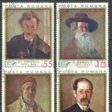Francobolli: RUMANIA - 1972 - MICHEL 3044/3047 - USADO. Lote 159893830
